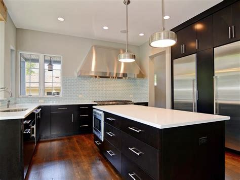 contemporary black  white kitchen  stainless