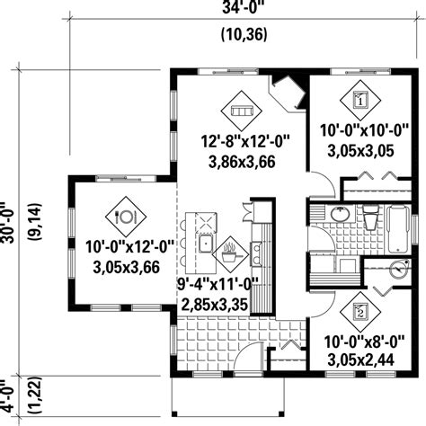 850 sq ft contemporary style house plan 2 beds 1 00 baths 850 sq