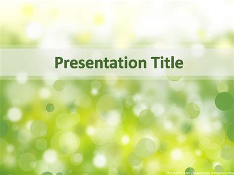 free powerpoint template nature free water themed