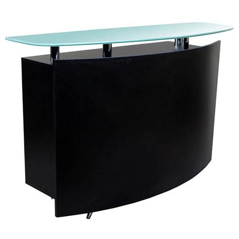 New Black Salon Spa Reception Waiting Desk Rc 03b Ebay Reception Salon Desk