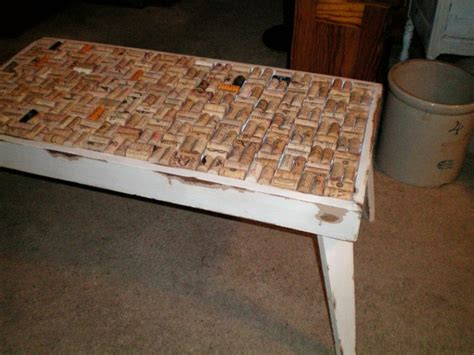 Wine Cork Coffee Table Cork Coffee Table Crafty Things Pinterest