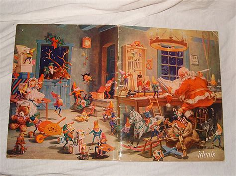george hinke santa s workshop from 1945 christmas ideals