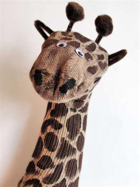 sock animals giraffe recycled crafts giraffe sock puppet woo jr