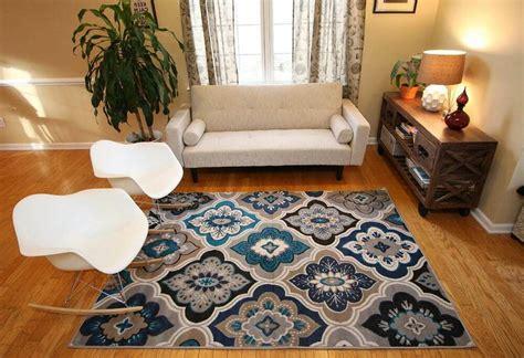 Living Room Floor Rugs - rugs area rug carpet floor modern large blue living room
