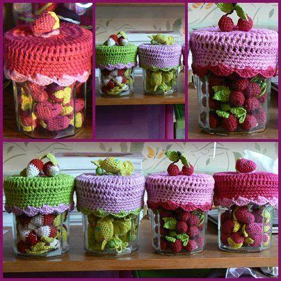 serial crocheteuse 122 confiture et cover lid jar also so many other items crochet