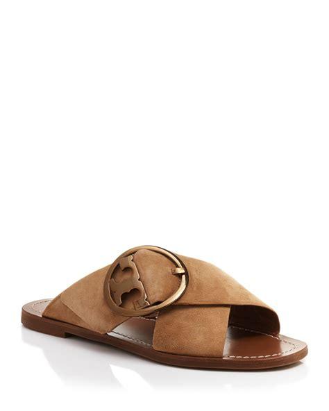 slide in sandals burch flat slide sandals thames criss cross in