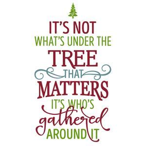 charlie brown christmas its not whats under the tree quote silhouette design store view design 105976 it s not what s the tree that matters phrase