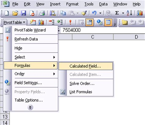 calculated in calculated field and calculated items in a pivot table