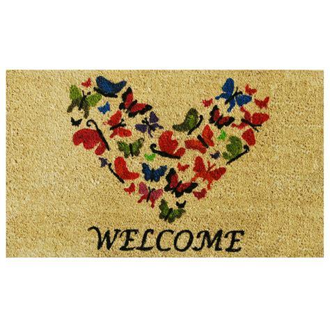 Butterfly Doormat - butterfly welcome doormat callowaymills