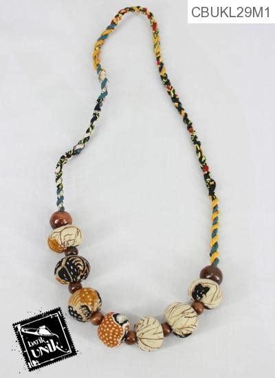 Kalung Etnik Pelangi kalung batik etnik tali untir warna pelangi kalung etnik