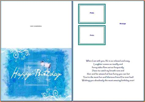 Birthday Card Template Cards Template