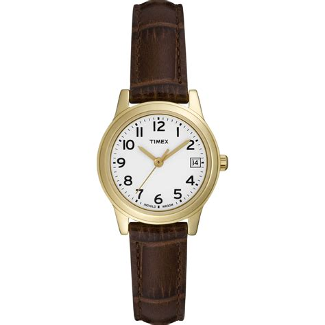 timex gold with brown jewelry watches