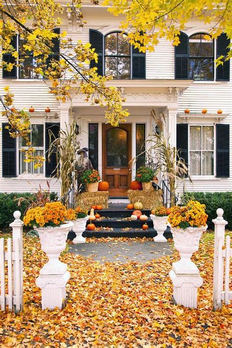 fall decorations for outside the home 17 best ideas about fall front doors on pinterest