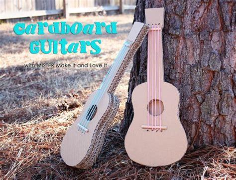 How To Make A Handmade Guitar - 10 manualidades para ni 241 os con cajas de cart 243 n decopeques