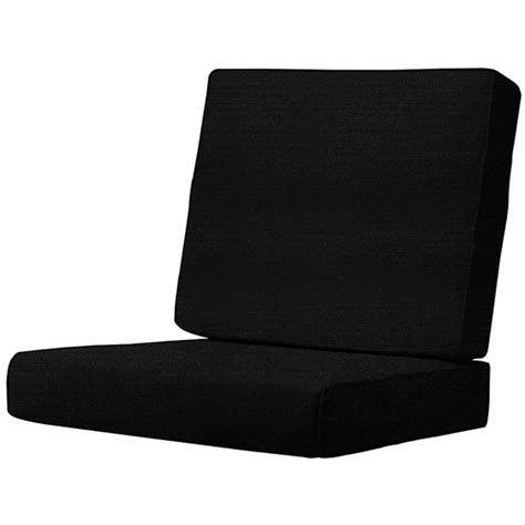 Black Dining Chair Cushions Sunbrella Black Outdoor Dining Chair Cushion 1573310210 The Home Depot