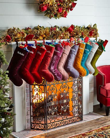 d stevens velvet christmas stocking personalized