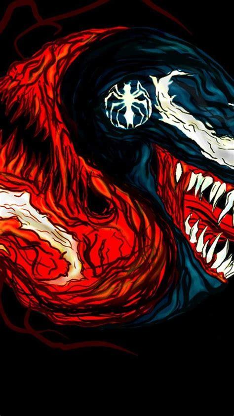 carnage marvel comics venom black background fan art