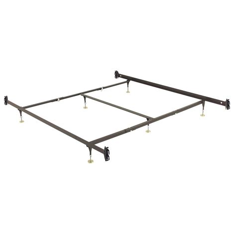 Height Of Bed Frame Leggett Platt King Bed Frame With 6 Adjustable Height Glide Legs And Hook On Side Rails