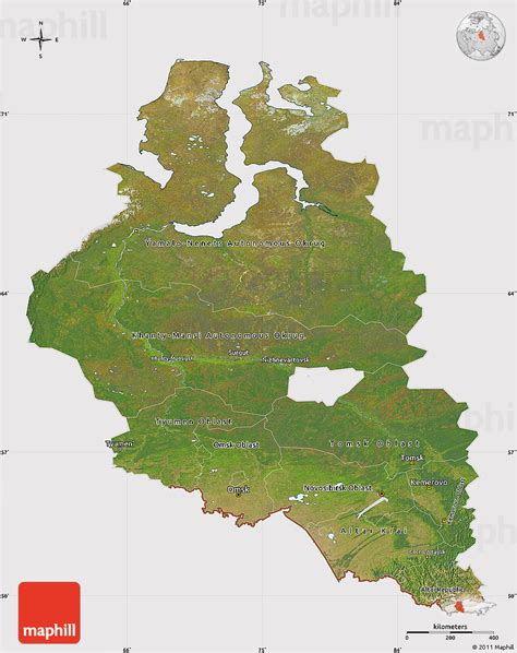 russia map satellite satellite map of western siberia cropped outside