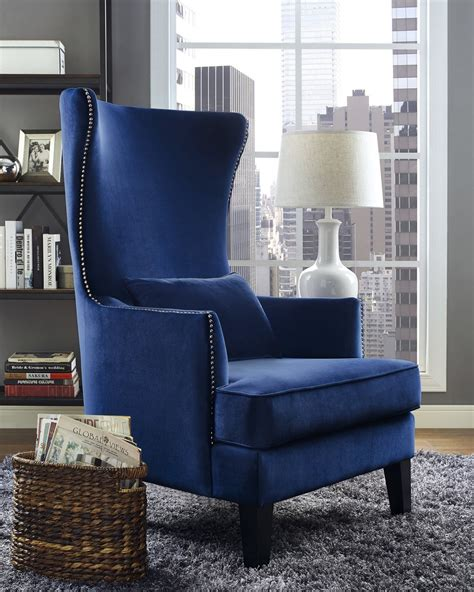 tov furniture bristol navy chair a102 at homelement
