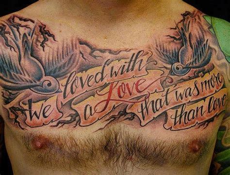 tattoo chest pieces quotes tattoo gallery for men best chest tattoos for men 2014