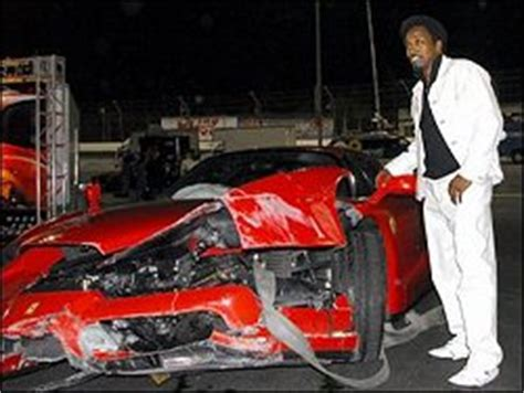 Eddie Griffin Crashes A Enzo by 8 Supercars Totalled By Drivers