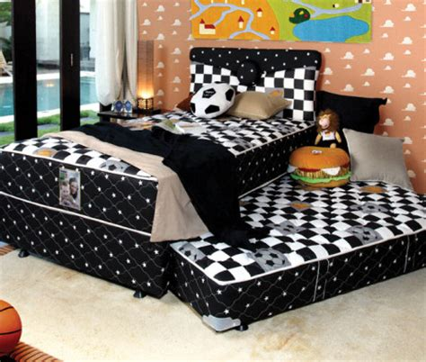 Kasur Anak Central Bed american pillo springbed anak 2 in 1 sorong harga