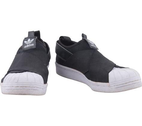 Sepatu Adidas Slip On Black White adidas black and white superstar slip on w sneakers