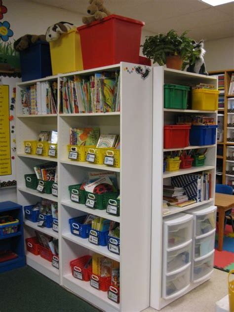 classroom bookshelves this shelving idea classroom storage ideas