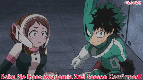 Anime 2 Season by My Academia Anime 2nd Season Confirmed Otaku Diary