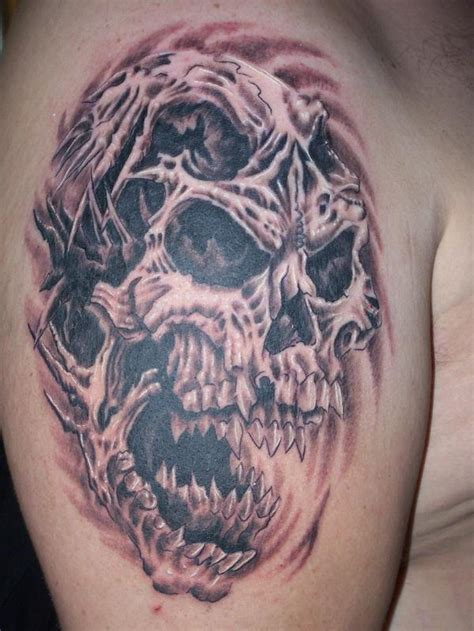 Skull Tattoo Images Designs Evil Skull Tattoos
