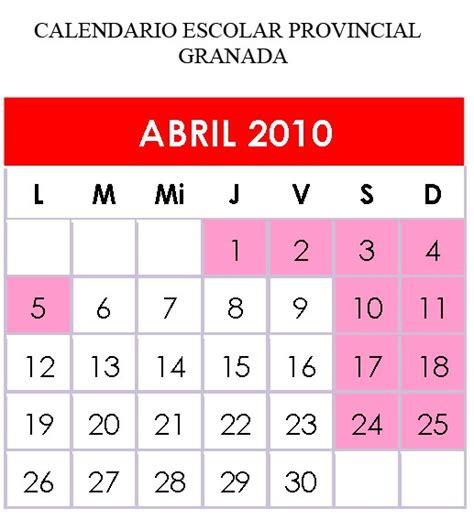 Calendario Abril 2010 Las Cr 211 Nicas Ceip Nazar 205 Es Las Clases Se Reanudan El