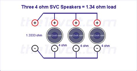subwoofer wiring diagrams    ohm single voice