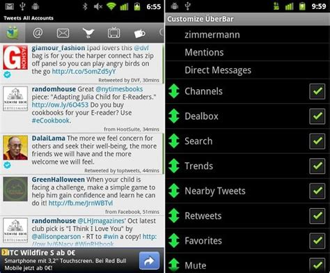 ubersocial themes for android twitter pour android les meilleures applications