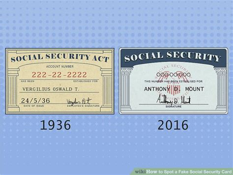 how to make a social security card 3 ways to spot a social security card wikihow