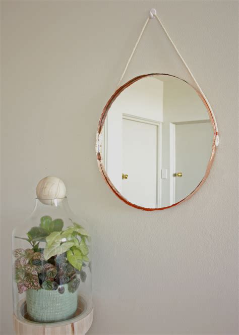 Copper Bathroom Mirrors by Diy Copper Edged Mirror The Makers Society