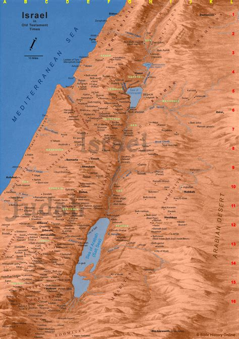 biblical map of israel map of ancient israel map of israel in testament times