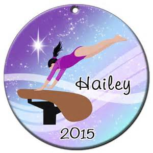 personalized gymnastics dreams christmas ornament vault