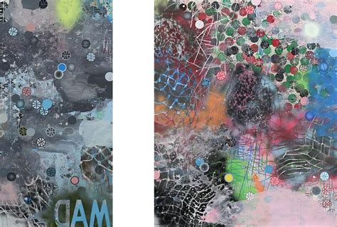 spray paint exhibition worlds in collision as david huffman elevates a basketball
