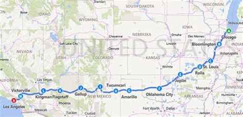 map usa route 66 exploring route66 usa authorised harley davidson tour