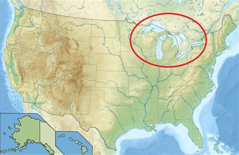 united states map lakes the great lakes of america