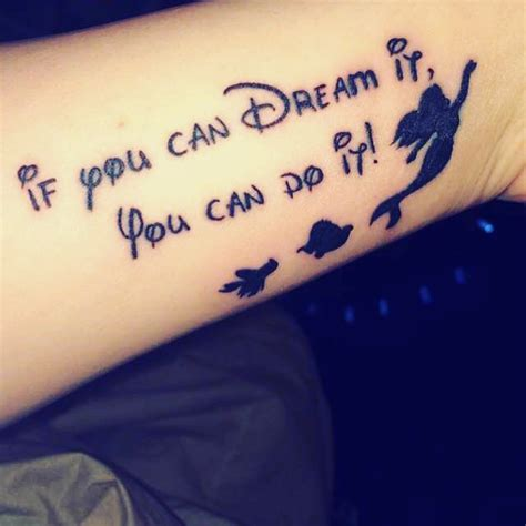 little mermaid and a disney quote tattoo venice tattoo