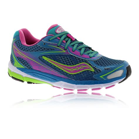 branded saucony ride 8 junior running shoes pink blue