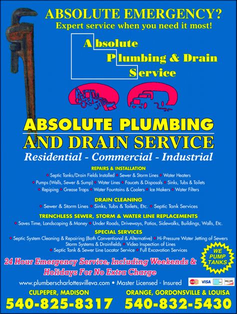 Absolute Plumbing Nj by Absolute Plumbing Drain Cleaning Services Inc