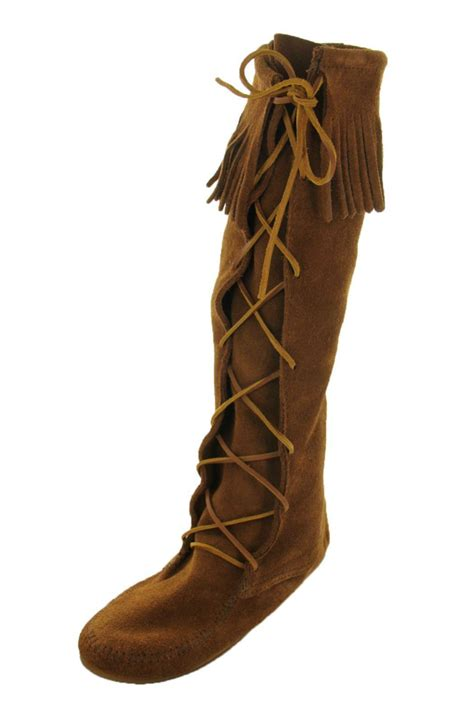 moccasin boots minnetonka moccasin brown boot moccasins from arkansas by