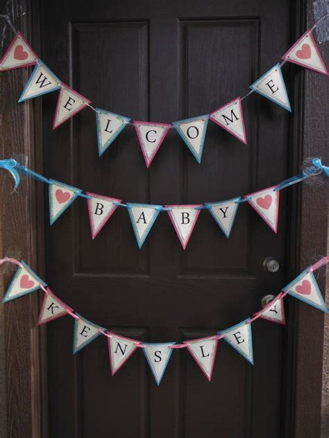 baby welcome home decoration welcome home baby pennant by specialmomentscrafts on etsy