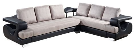 Gray And Black Microfiber Sectional by U7208 Black Bonded Leather Grey Microfiber Fabric