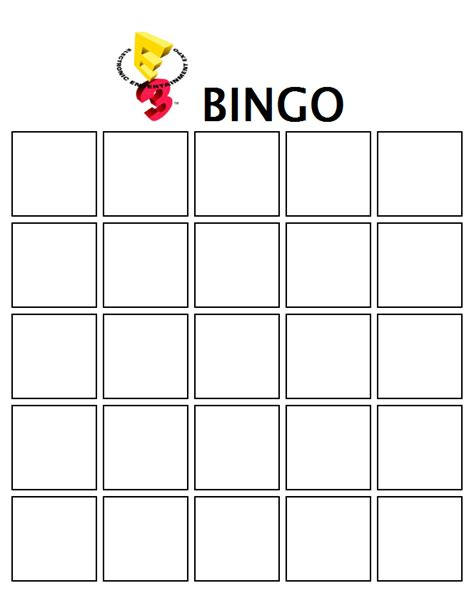 bingo sheet template smashboards e3 bingo smashboards