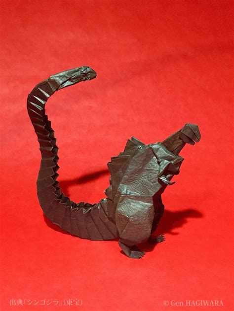 How To Make An Origami Godzilla - origami shin godzilla by h on deviantart