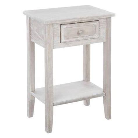 table de nuit etagere meuble de chevet table de nuit bois vieilli 1 tiroir